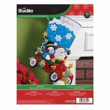 Bucilla Felt Stocking Kit- Holiday Drive