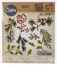 Tim Holtz Christmas Thinlits- Holiday Greens