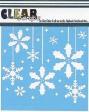 Clear Scraps 12x12 Stencil- Holly Bulbs