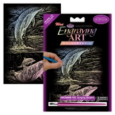 Engraving Art Foil Set- Holographic Dolphin
