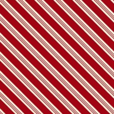 Home for the Holidays Fabric- Diagonal Red Stirpe
