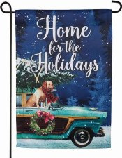Holiday Garden Flag- Home for the Holidays