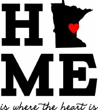 """Home Is Where the Heart Is"" Minnesota Vinyl"