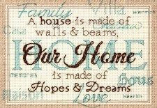 Dimensions Cross Stitch Kit- Home