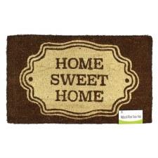 Natural Fiber Door Mat- Home Sweet Home Brown