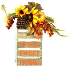 Skinny & Small Wood Sign- Home Sweet Home