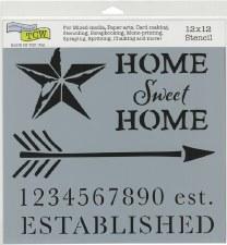 12x12 Stencil- Home Sweet Home