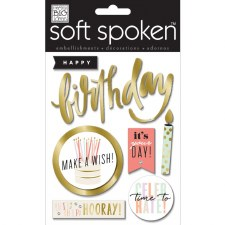 MAMBI Soft Spoken Stickers- Birthday- Hooray Birthday