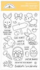Doodle Stamps & Dies- Hoppy Easter Stamps