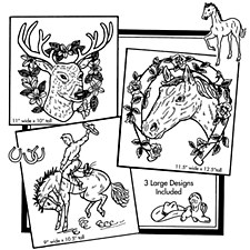 Aunt Martha's Iron On Transfers- Horses & Deer #3287