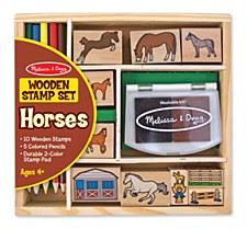 Melissa & Doug Stamp Set- Horse Stable