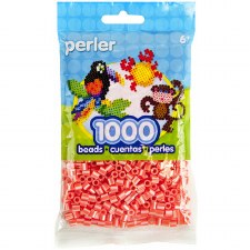 Perler Beads 1000 piece- Hot Coral Pearl Stripe