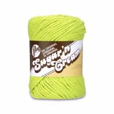 Sugar 'n Cream Yarn, Solid- Hot Green #1712