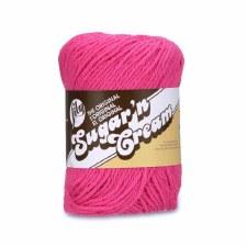 Sugar 'n Cream Yarn, Solid- Hot Pink #1740