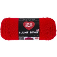 Red Heart Super Saver Yarn- Hot Red