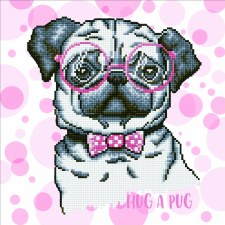 Diamond Facet Art Kit- Hug a Pug