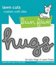 Lawn Fawn Craft Die- Scripty Hugs
