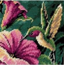 Dimensions Cross Stitch Kit- Hummingbird Drama