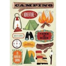 Cardstock Stickers- I'd Rather Be Camping