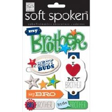 MAMBI Soft Spoken Stickers- Family- I Heart My Brother