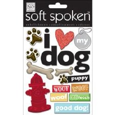 MAMBI Soft Spoken Stickers- Dog- I Love My Dog
