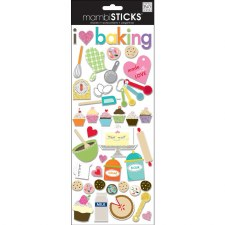 MAMBI Chipboard Stickers- Food & Drink- I Love Baking