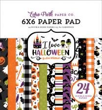 I Love Halloween 6x6 Paper Pad