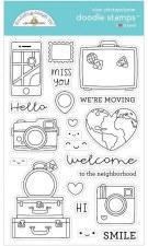 I (Heart) Travel I Love Travel Doodle Stamps