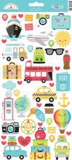 I (Heart) Travel Stickers- Icons