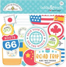 I (Heart) Travel Die Cuts- Odds & Ends Tags