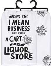Dish Towel- I Mean Business (2pk)