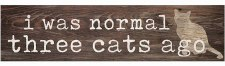 Skinny & Small Wood Sign- I Was Normal