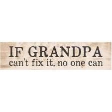 Skinny & Small Wood Sign- Grandpa
