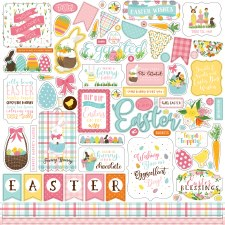I Love Easter 12x12 Sticker Sheet