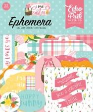 I Love Easter Ephemera Die Cuts