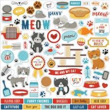 I Love My Cat Sticker Sheet