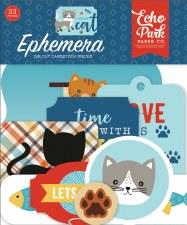 I Love My Cat Ephemera Die Cuts