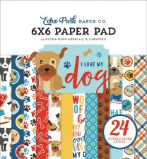 I Love My Dog 6x6 Paper Pad