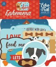 I Love My Dog Ephemera Die Cuts