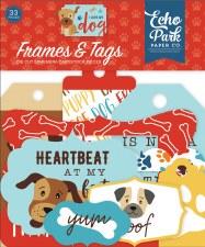 I Love My Dog Ephemera Die Cuts- Frames & Tags