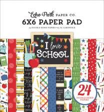 I Love School 6x6 Paper Pad