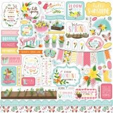I Love Spring Sticker Sheet
