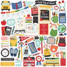 I Love School Stickers- 12x12 Sheet