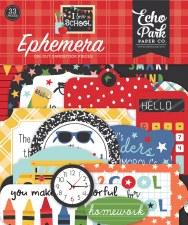 I Love School Die Cuts- Ephemera