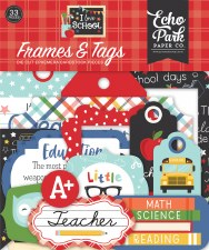 I Love School Die Cuts- Frames & Tags