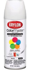 ColorMaster In/Out 12oz Flat Spray Paint- White