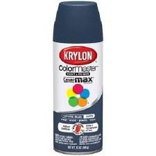 Krylon Indoor/Outdoor 12oz Spray Paint- Satin, Oxford Blue