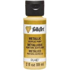FolkArt 2 Oz. Metallic Acrylic Paint- Inca Gold