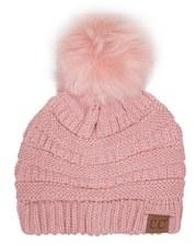 CC Knit Beanie w/ Pom- Indie Pink