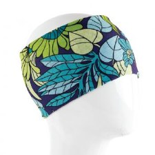 Infinity Bandana- Blue & Green Leaves